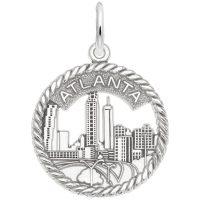 Atlanta Skyline Open Rope Disc Charm