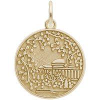 gold charm of cherry blossom art