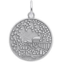silver charm of cherry blossom art